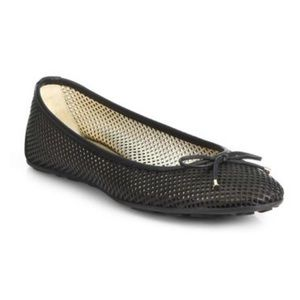 Jimmy Choo Walsh Perforated Ballet Flats Shoes